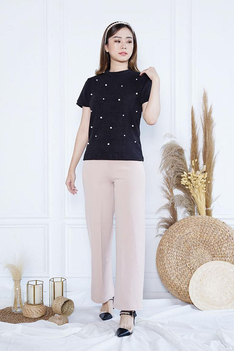 Blouse - Pearl Knit Top