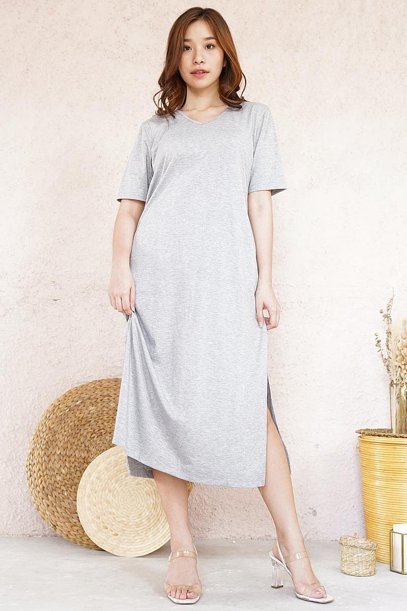 Dress - V Neck Shirt Dress