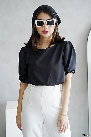 Blouse - Puff Crop Top